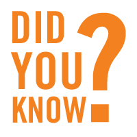 """Orange text """"Did you know?"""""""