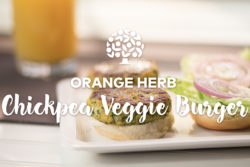 Orange Herb Chickpea Veggie Burger