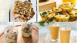 Collection of breakfast recipe images