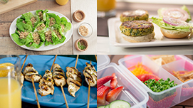 Collection of lunch recipe images