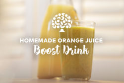 image of homemade orange juice boost drink recipe