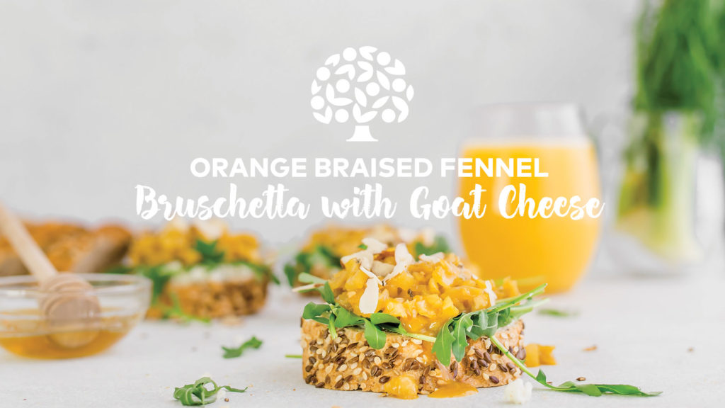 Image of Orange Braised Fennel Bruschetta with Goat Cheese Print