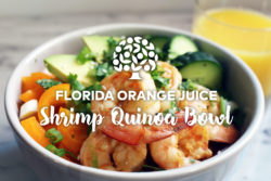Florida Orange Juice Shrimp Quinoa Bowl
